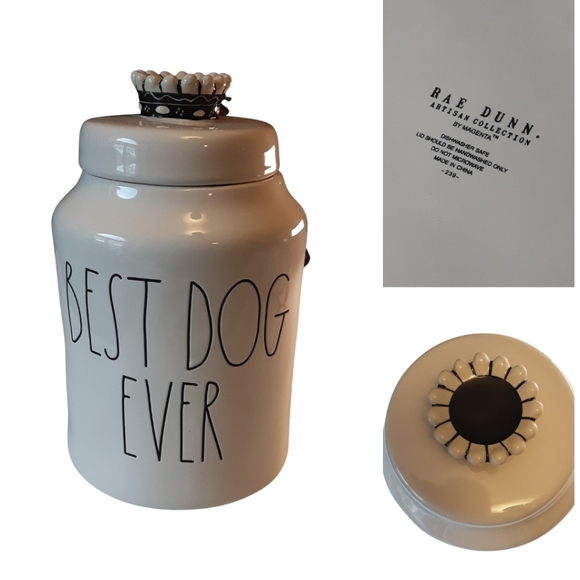 """RAE DUNN Dog Treat Container, 10"""""""